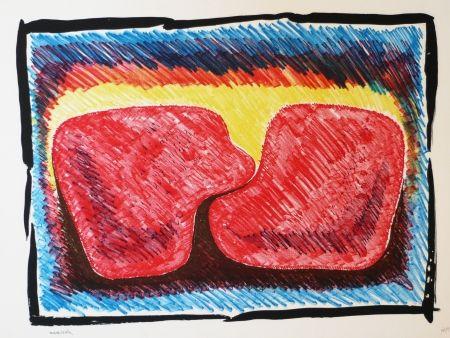 Lithographie Serrano - Unidad en rojo