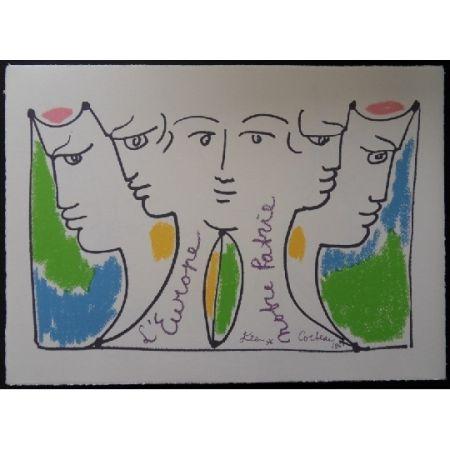Lithographie Cocteau - Union européenne