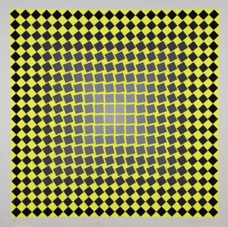 Sérigraphie Vasarely - Unitled