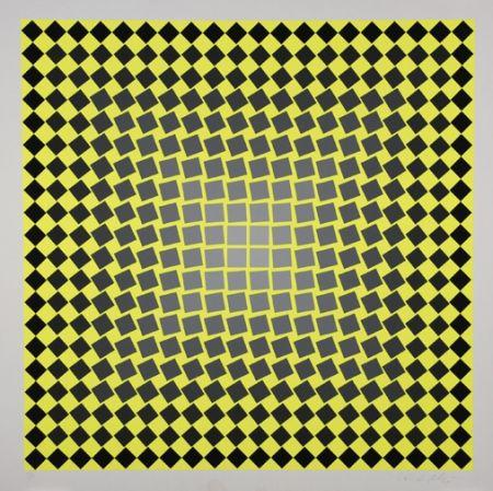 Sérigraphie Vasarely - Unitled