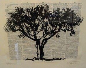 Linogravure Kentridge - Universal Archive Tree D