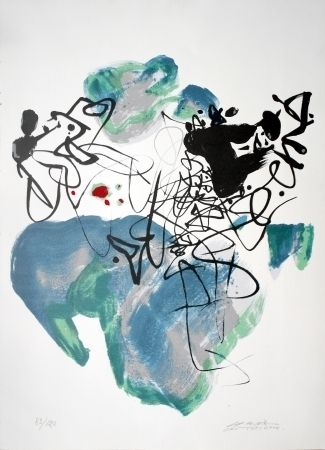 Lithographie Chu Teh Chun  - Universal Peace
