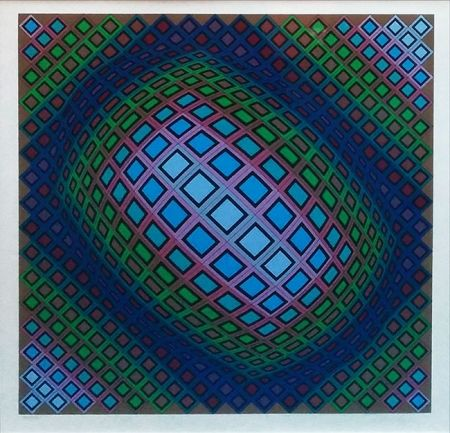 Sérigraphie Vasarely - UNKNOWN TITLE