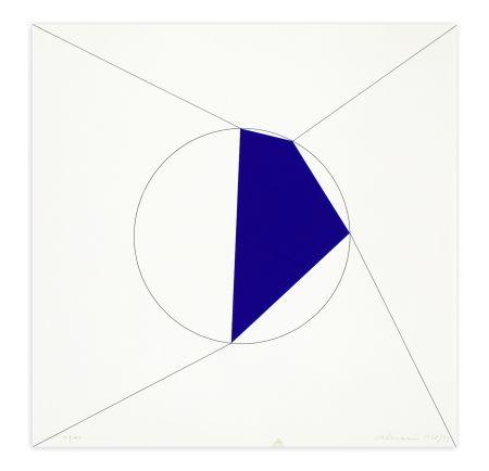 Sérigraphie Alviani - Uno. Due. Tre. Quattro. poligono regolare a lati progressivi iscritto nel cerchio, 1978/1993