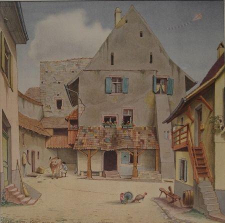 Lithographie Stöcklin - Untitled