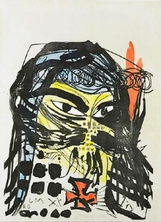 Lithographie Meese - Untitled