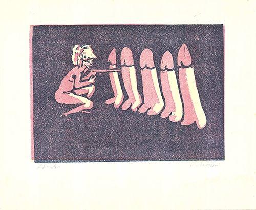 Lithographie Maccari - Untitled