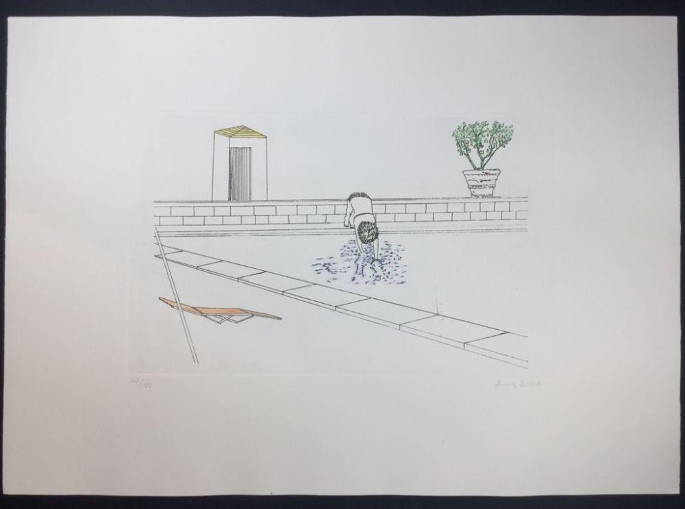 Eau-Forte Et Aquatinte Angeli - Untitled
