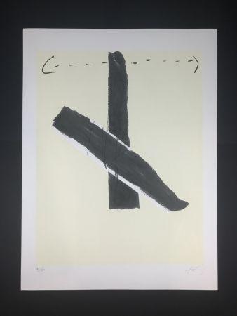 Lithographie Tàpies - Untitled