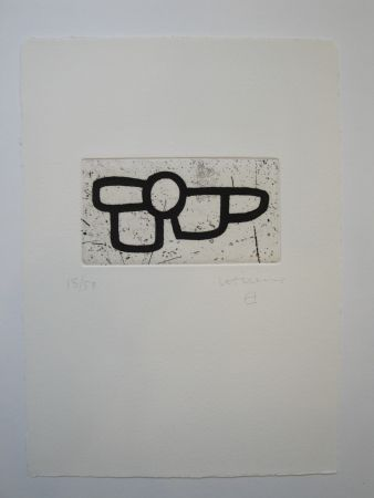 Aquatinte Chillida - Untitled