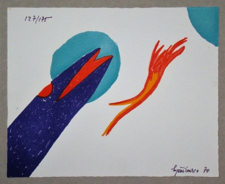 Lithographie Ionesco - Untitled
