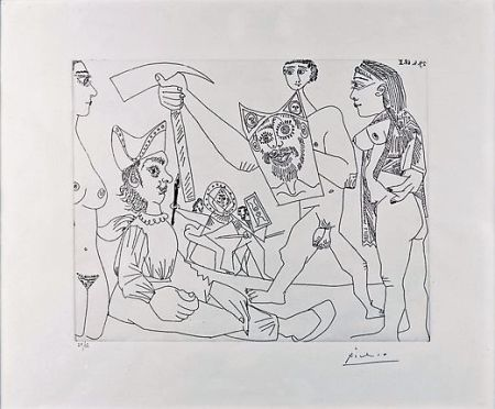 Eau-Forte Picasso - UNTITLED