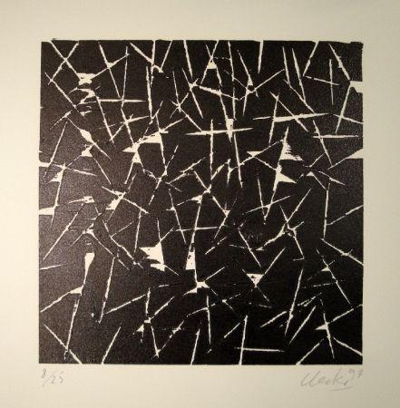 Gravure Sur Bois Uecker - Untitled
