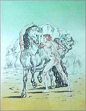 Lithographie De Chirico - Untitled