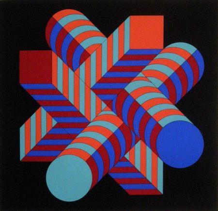 Sérigraphie Vasarely - Untitled