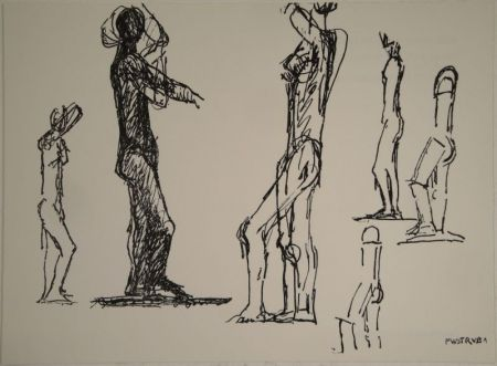 Lithographie Wotruba - Untitled