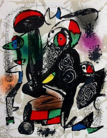 Lithographie Miró - Untitled