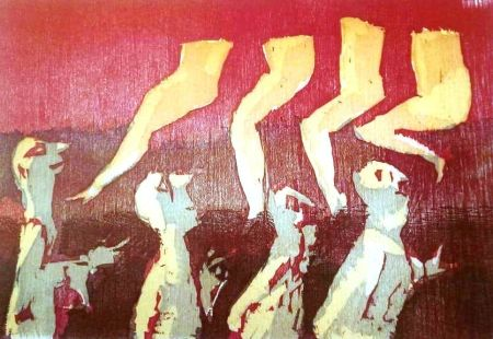 Lithographie Maccari - UNTITLED