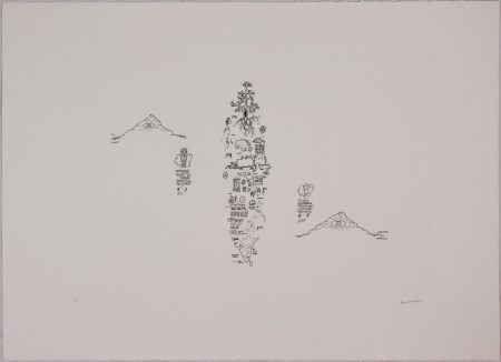 Eau-Forte Baruchello - Untitled