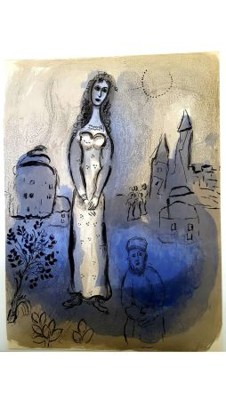 Lithographie Chagall - Untitled