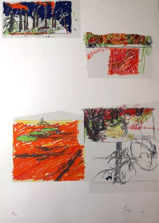 Lithographie Schifano - UNTITLED