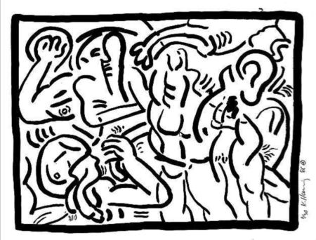 Multiple Haring - Untitled