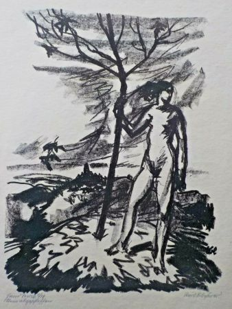 Lithographie Blocherer - Untitled