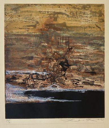 Eau-Forte Et Aquatinte Zao - Untitled