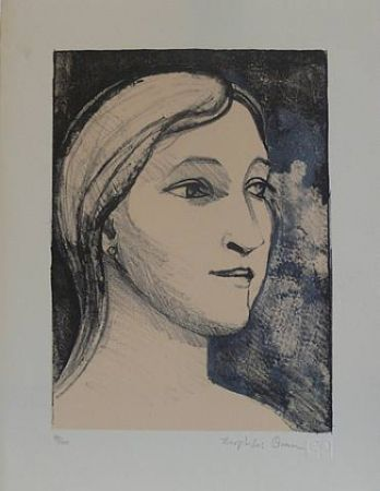 Lithographie Brown - Untitled-(Portrait)