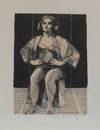 Lithographie Brown - Untitled-(Seated Portrait)