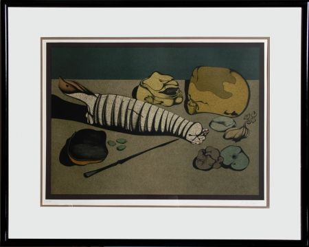 Lithographie Chemiakin - Untitled - Nature Morte