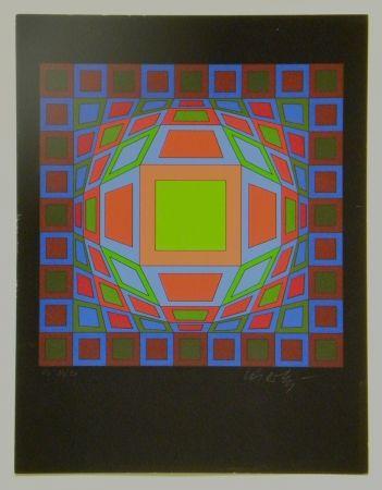 Sérigraphie Vasarely - Untitled #4