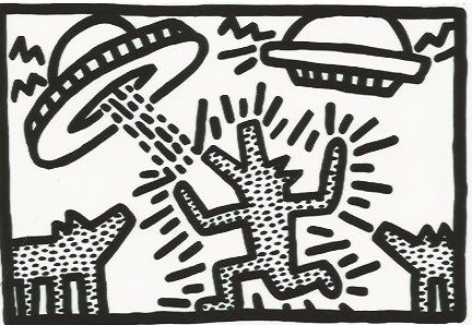 Lithographie Haring - Untitled 4