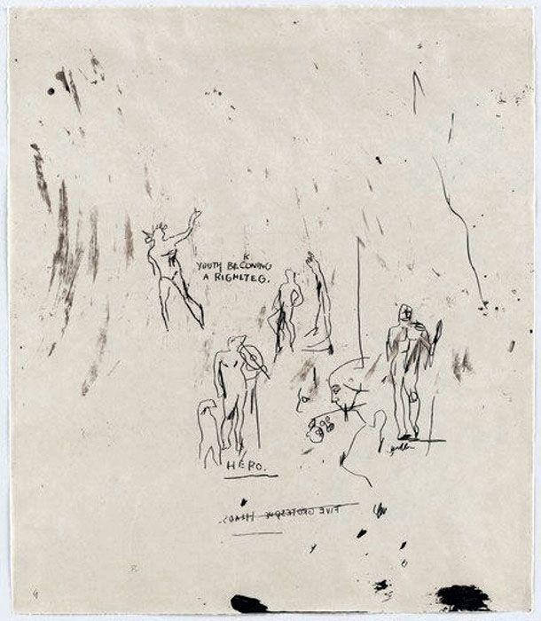 Sérigraphie Basquiat - Untitled 5 (from Leonardo)