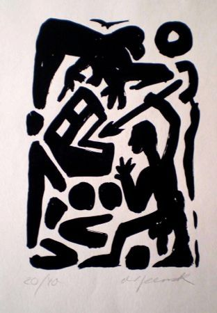 Lithographie Penck - Untitled 6