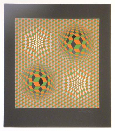 Sérigraphie Vasarely - Untitled #6