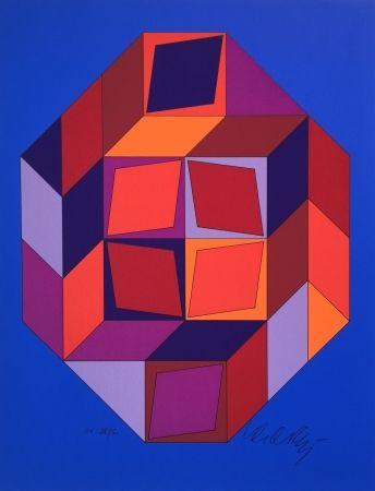 Sérigraphie Vasarely - Untitled #7