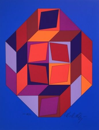 Sérigraphie Vasarely - Untitled #7