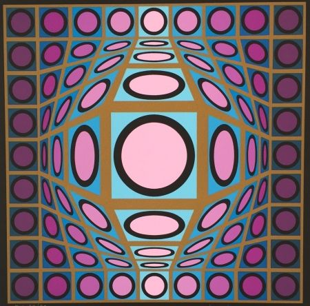 Sérigraphie Vasarely - Untitled #8