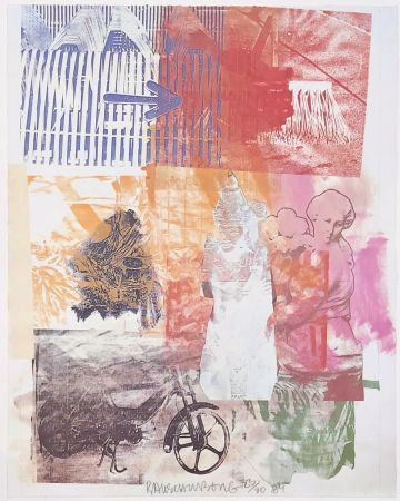 Lithographie Rauschenberg - Untitled (Arrow)