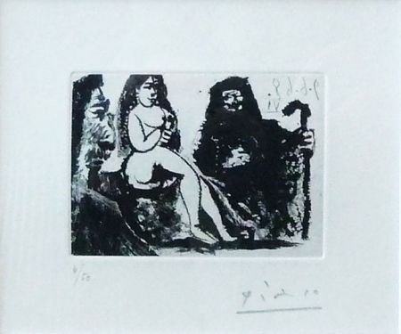 Aquatinte Picasso - Untitled, Bloch #1631