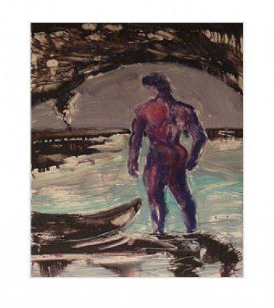 Monotype Flores - Untitled, Blue Man