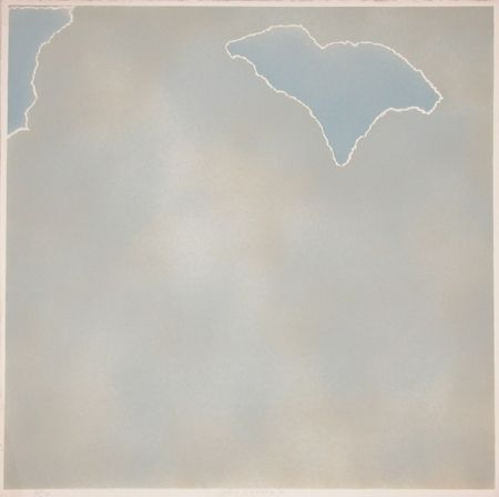 Lithographie Goode - Untitled (blue paper clouds)