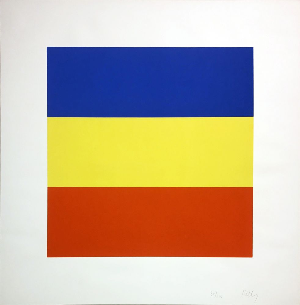 Sérigraphie Kelly - Untitled (Blue/Yellow/Red)