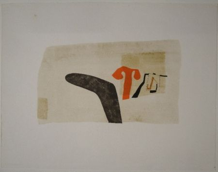 Lithographie Bissier - Untitled (Composition)