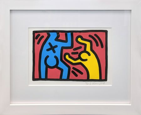 Lithographie Haring - UNTITLED (D)