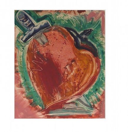 Monotype Flores - Untitled, Daggar in Heart