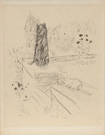 Eau-Forte Bonnard - Untitled (Dog and Cat)