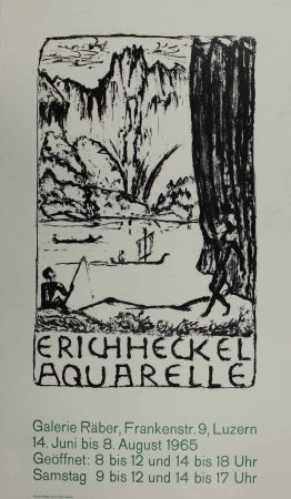 Lithographie Heckel - Untitled (Exhibition poster)