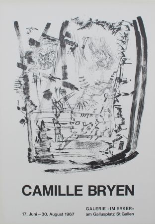 Lithographie Bryen - Untitled (Exhibition poster)